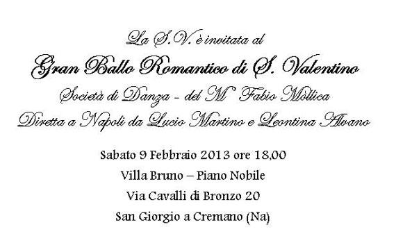 Gran ballo romantico di S. Valentino